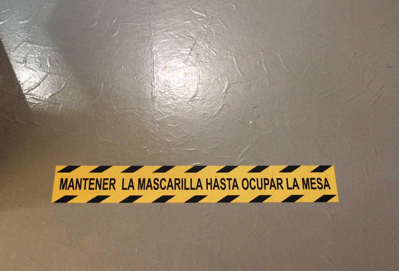 Trabajando para seguridad frente a coronavirus Eh Voilà! restaurante Valladolid